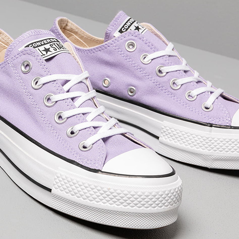 Converse Chuck Taylor All Star Lift Washed Lilac/ Black/ White, Pink