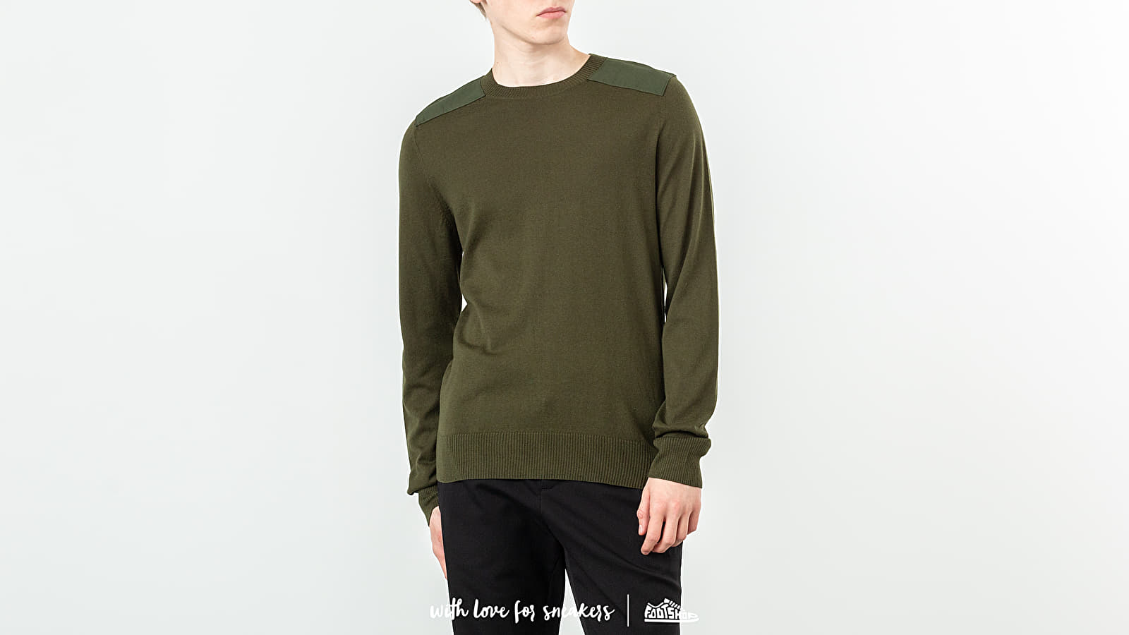 Mikiny a svetry A. P. C. Ernest Military Sweatshirt Military Green