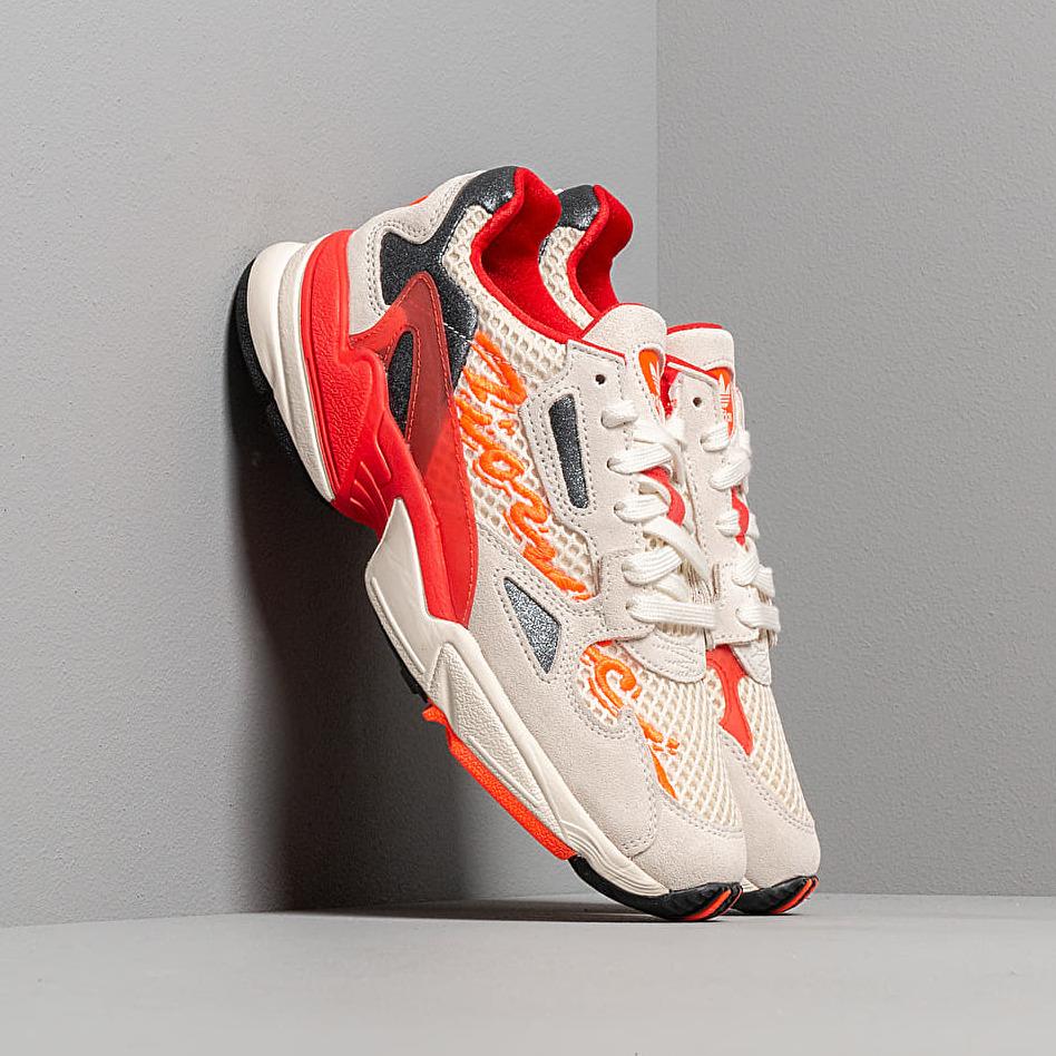 adidas x Fiorucci Falcon W Off White/ Red/ Solar Orange