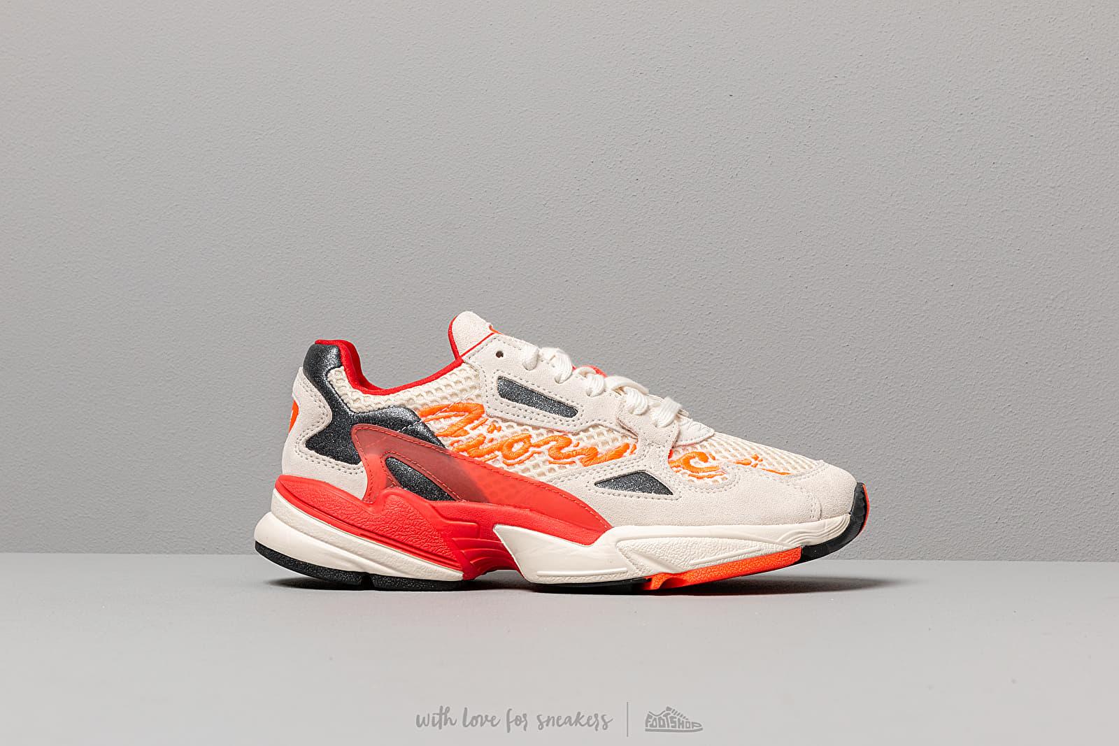 adidas by Fiorucci Falcon W Off White/ Red/ Solar Orange   Footshop