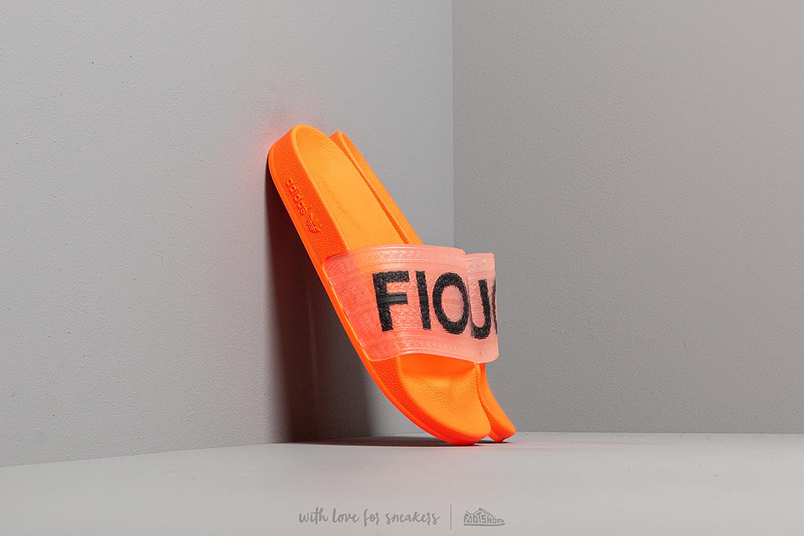 Pánské tenisky a boty adidas by Fiorucci Adilette Solar Orange/ Solar Gold/ Black