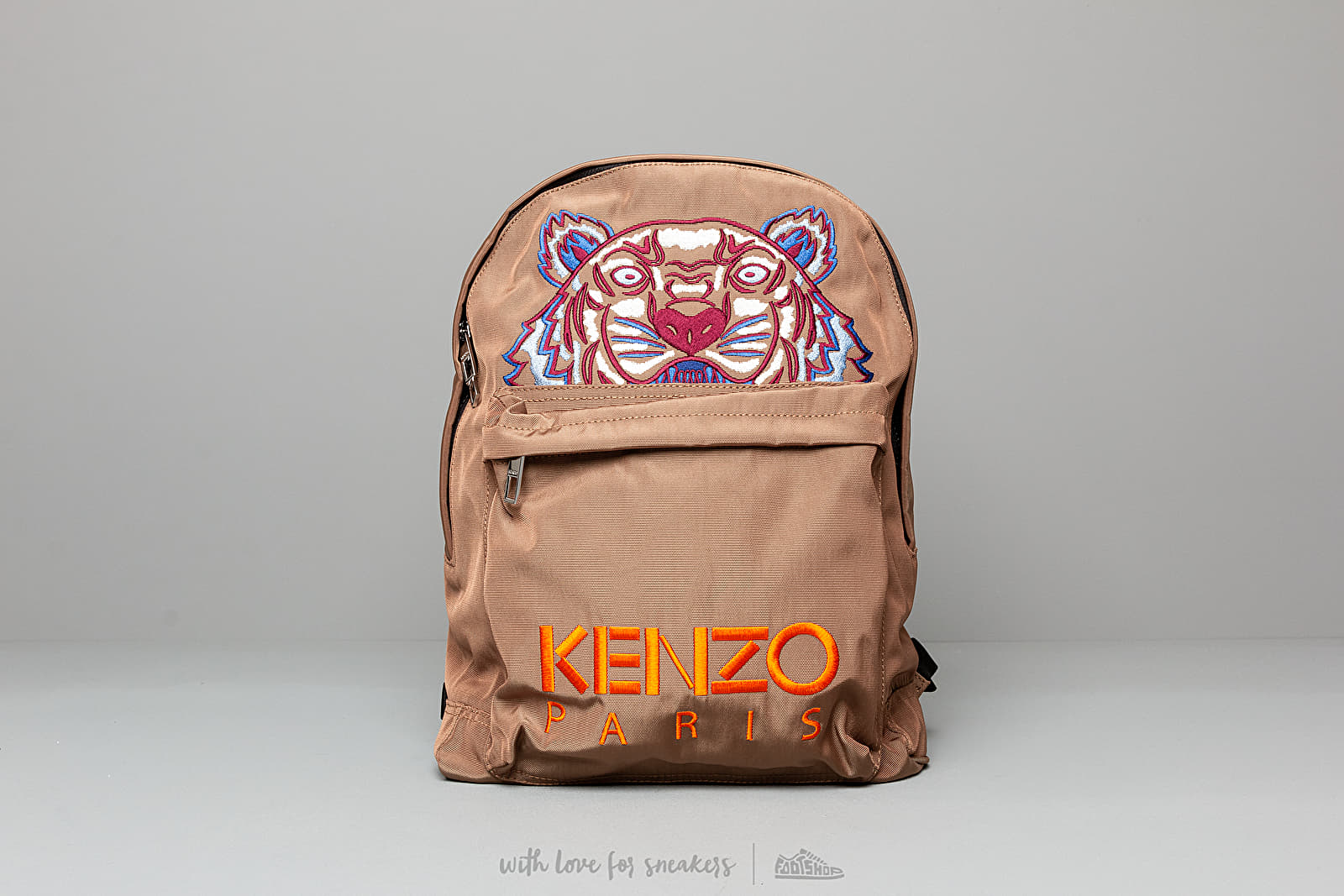 KENZO Large Tiger Canvas Backpack Camel Brown at a great price 205 € buy at Footshop