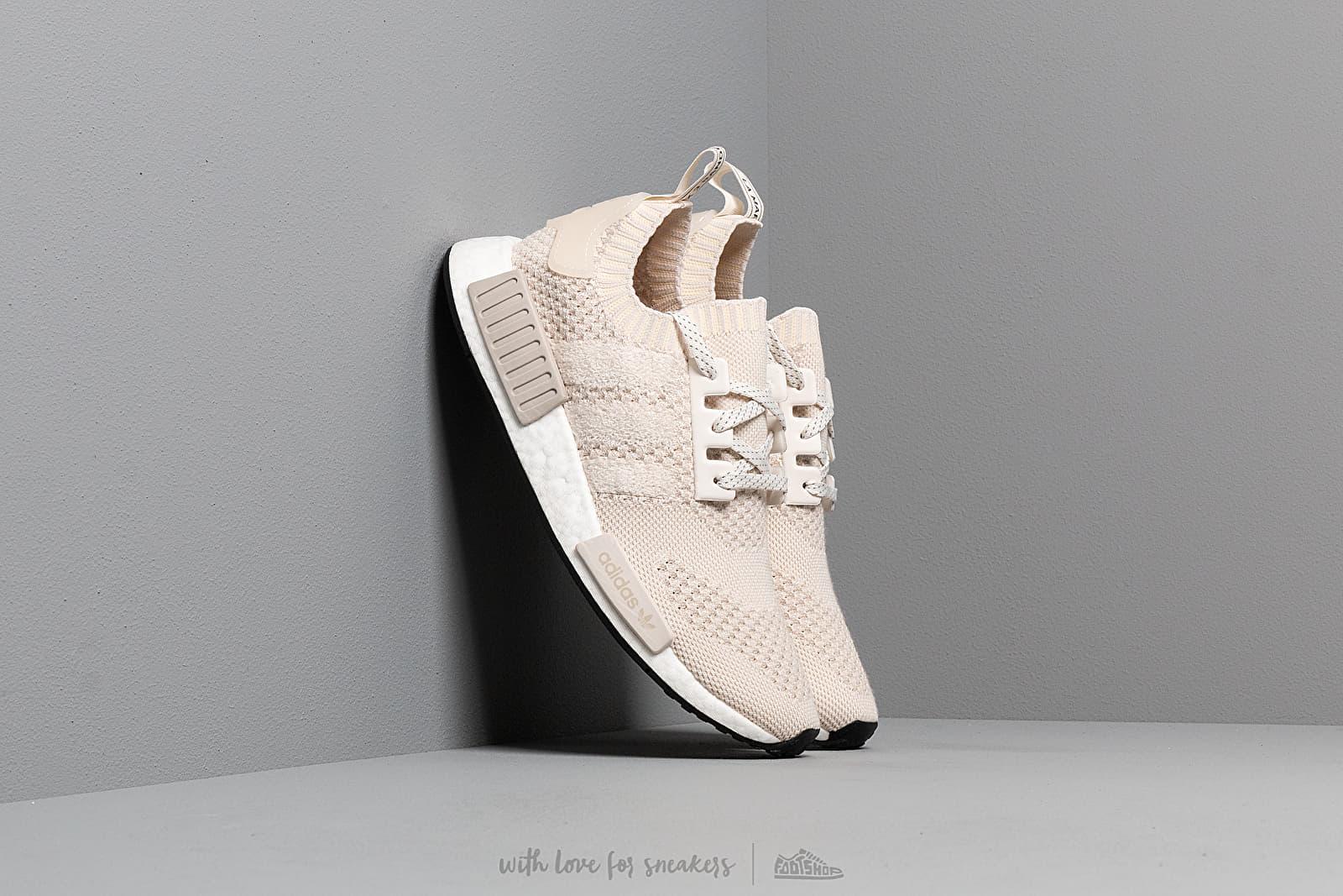 Zapatillas Hombre adidas NMD_R1 Primeknit Core White/ Core White/ Raw White