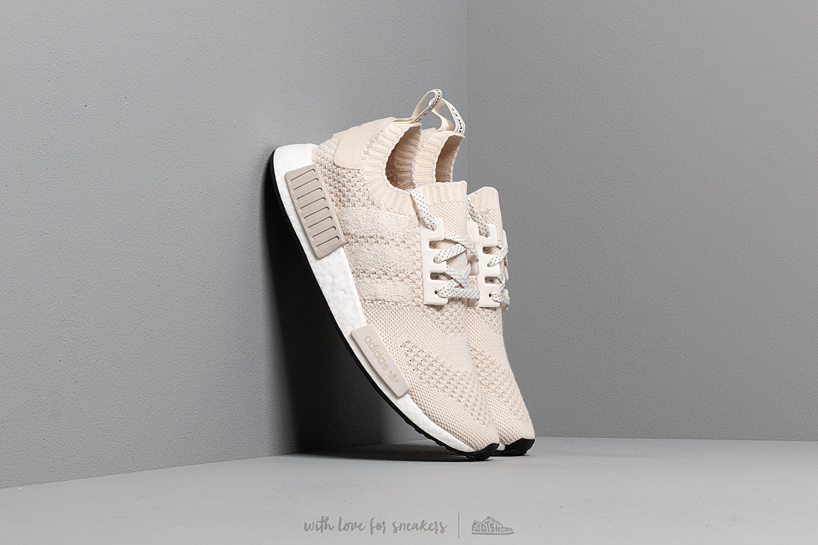 adidas NMD_R1 Primeknit Core White/ Core White/ Raw White at a great price $194 buy at Footshop