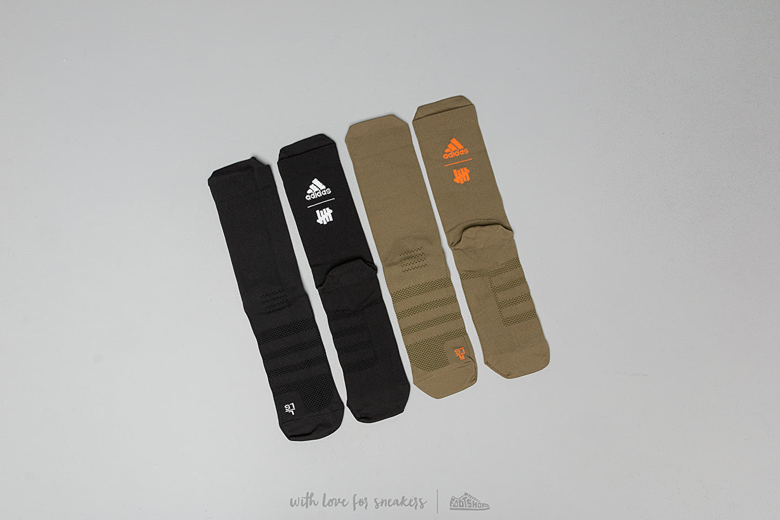 adidas x Undefeated 2 Pair Socks Olive/ Black at a great price 46 € buy at Footshop