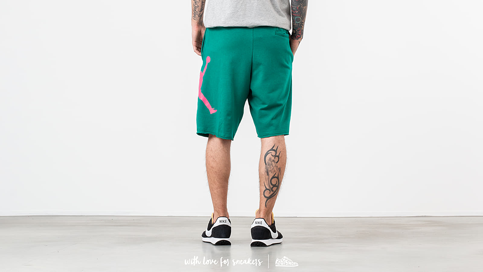 d2f0bac82b87 Jordan Jumpman Logo Shorts Green  Pink at a great price  39 buy at Footshop