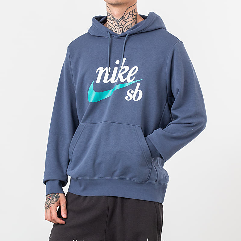 Nike SB Icon Hoodie Obsidian Cabana, Blue