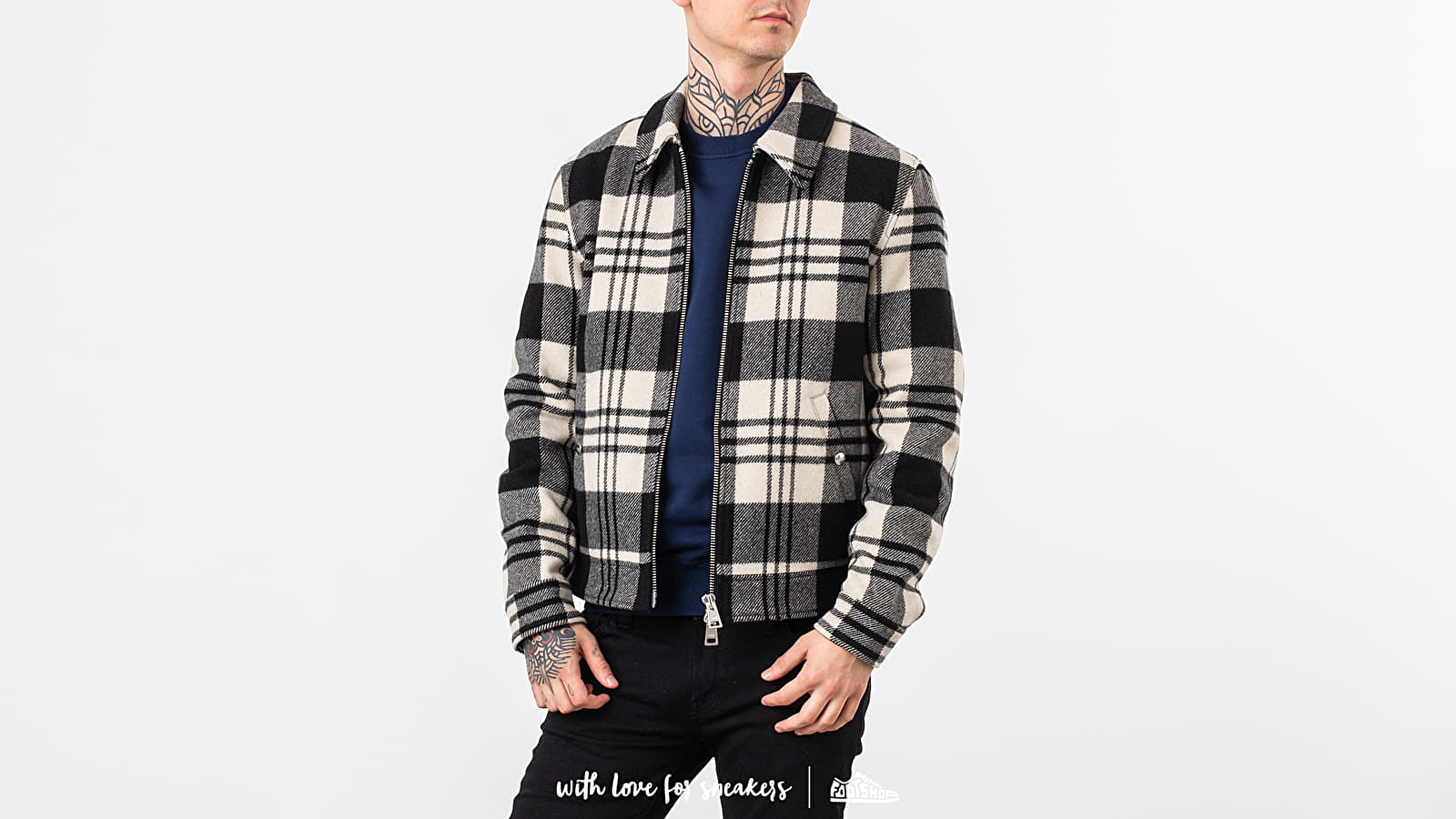 Bundy Alexandre Mattiussi Snap Buttoned Zipped Jacket White/ Black