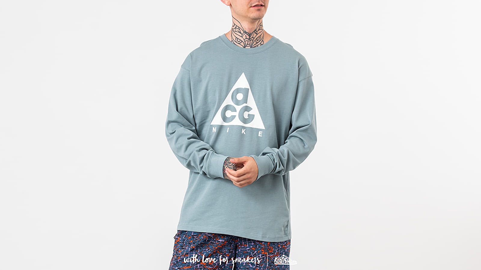 2018 shoes another chance best price Nike ACG Longsleeve Logo Tee Petrol | Footshop