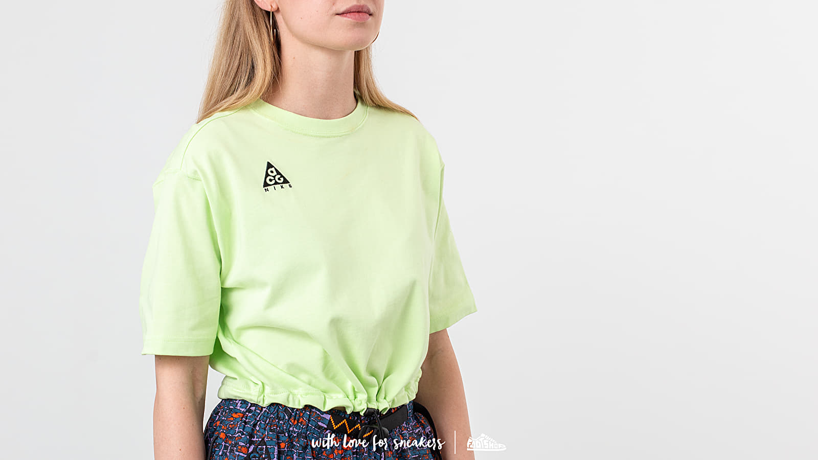 92af95889bf7ac Nike ACG Logo Tee Barely Volt at a great price  43 buy at Footshop