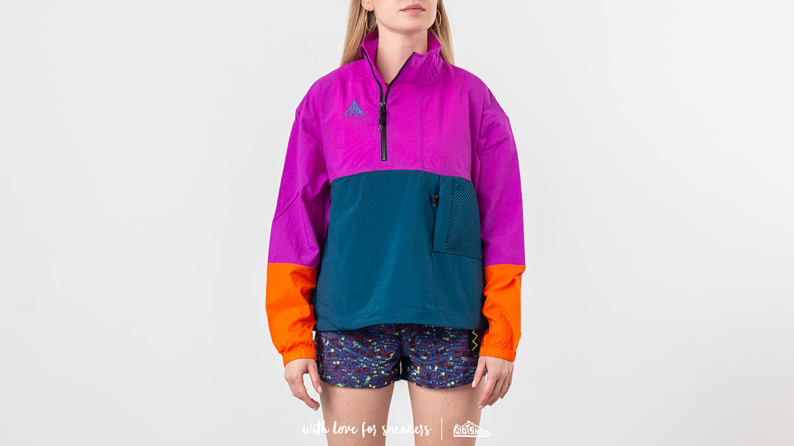 Nike NRG ACG Anorak Jacket Vivid Purple/ Blue Force/ Bleached Coral at a great price 106 € buy at Footshop