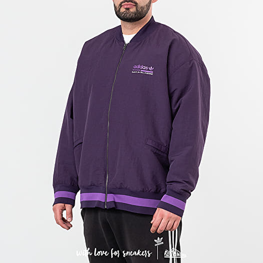 adidas Originals Varsity Jacket Pad | DU7325 | Purple | Kläder | Footish
