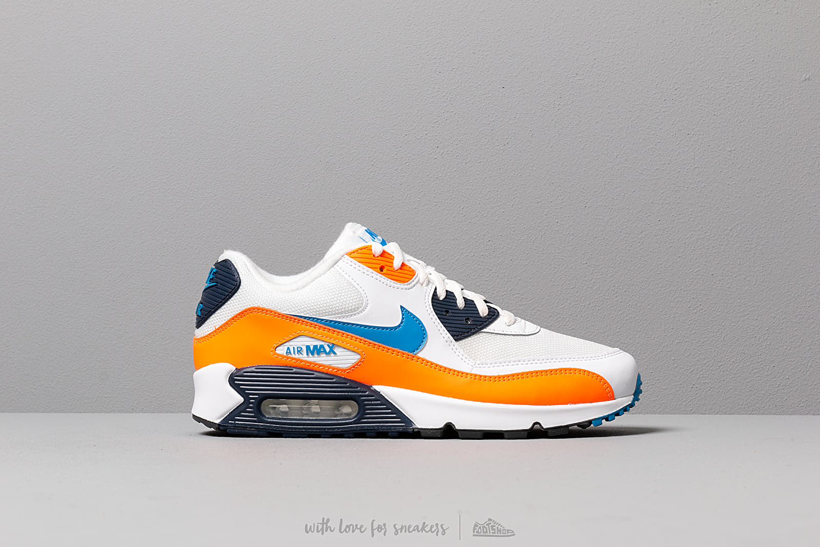 Nike Air Max 90 Essential White Photo Blue Total Orange | Footshop