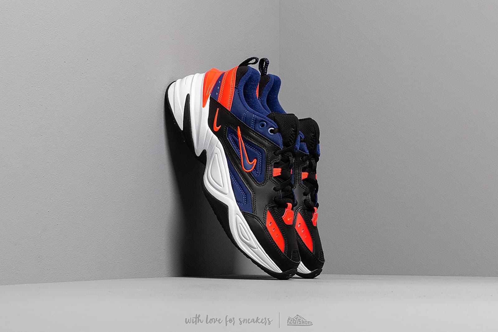Nike M2K Tekno Black Deep Royal Blue Bright Crimson   Footshop