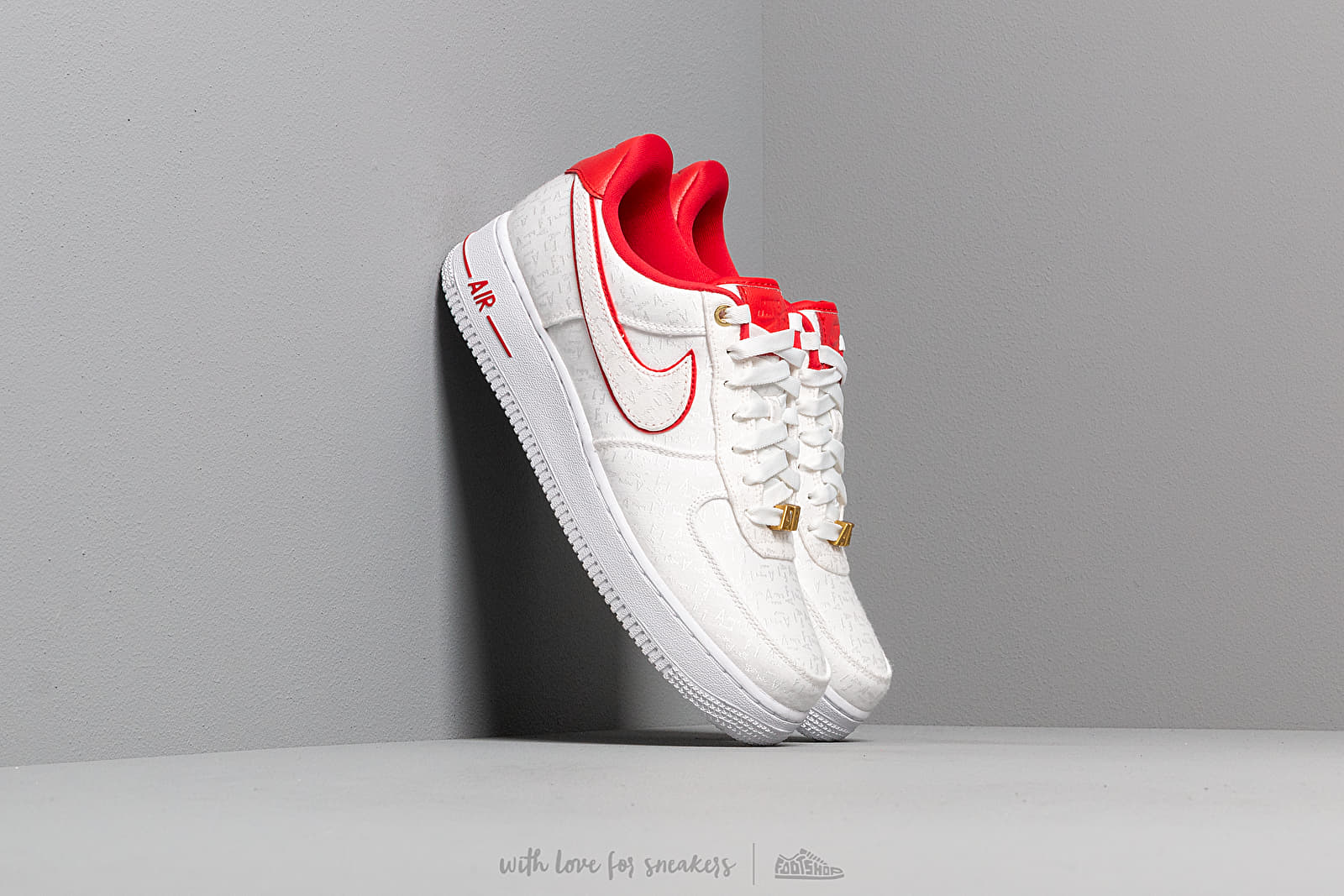 pretty nice 8d645 b1daa Nike Wmns Air Force 1 '07 Lx White/ University Red-White ...