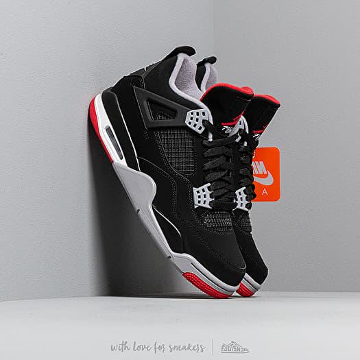 Air Jordan 4 Retro Black/ Fire Red-Cement Grey-Summit White   Footshop