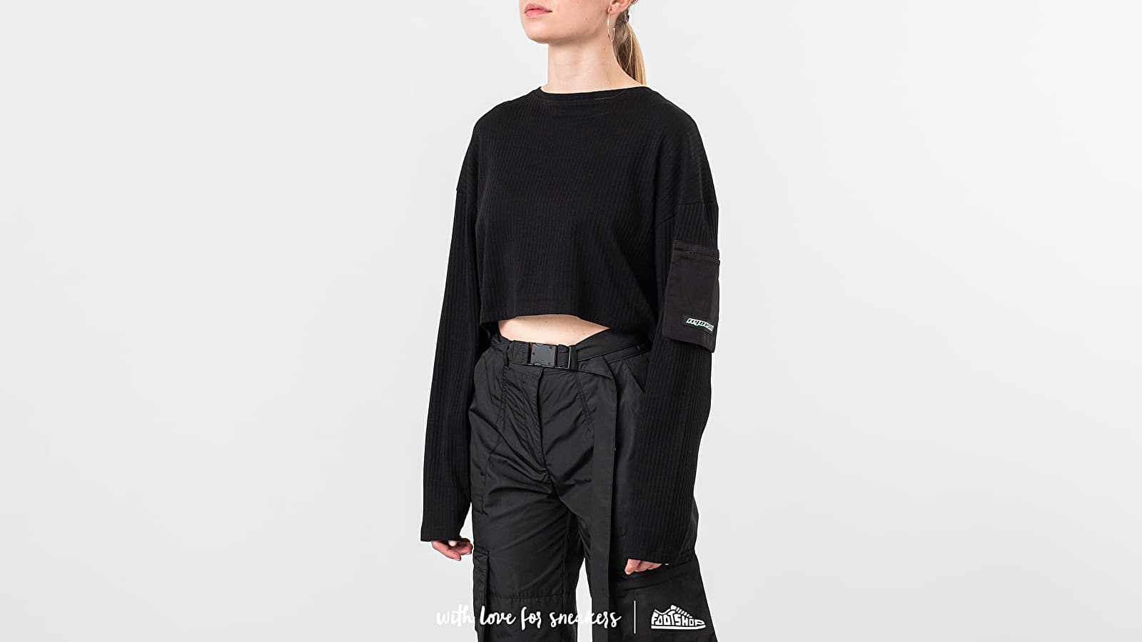 REPRESENT Ribbed Cropped Top Black at a great price 62 € buy at Footshop