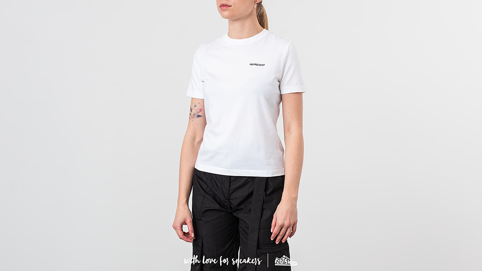 REPRESENT Fitted Logo Tee White at a great price 44 € buy at Footshop