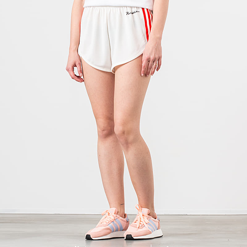 adidas by Fiorucci Vintage Shorts Off White/ Red/ Black