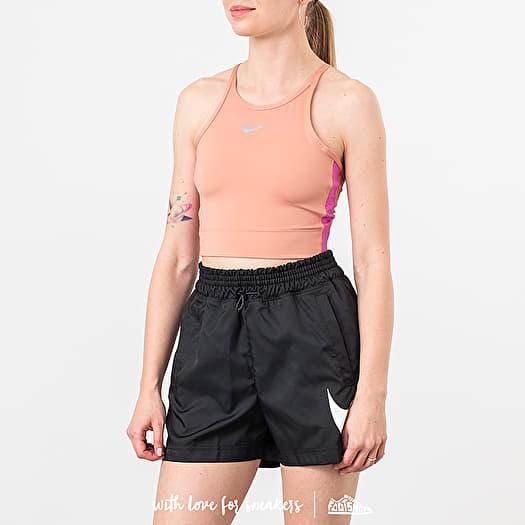 Maryanne Jones Activar Alrededor  Tank Tops Nike Running Cropped Top Rose Gold   Footshop