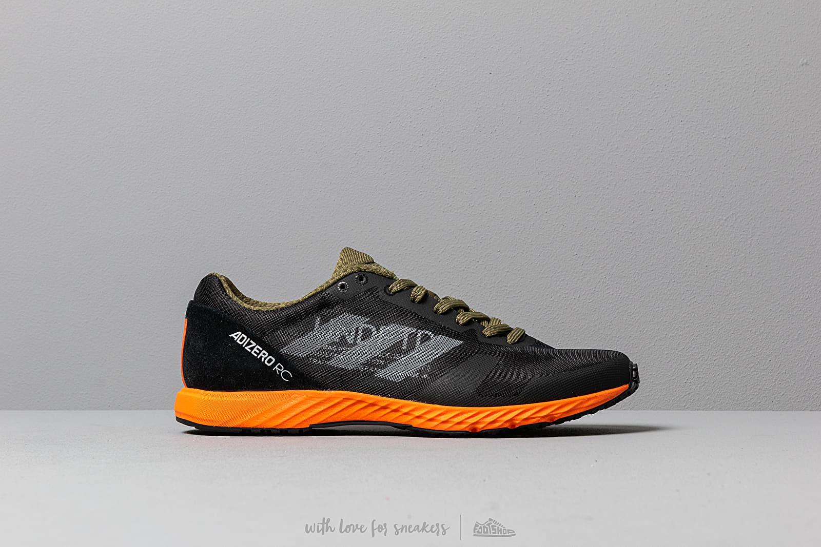 3909c0713e3 adidas x Undefeated Adizero RC Black-White/ Light Grey Heather/ Orange at a