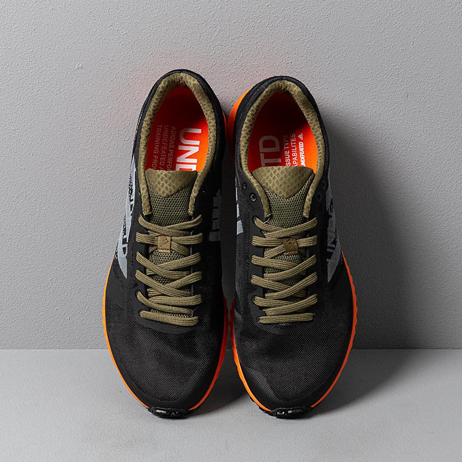 adidas x Undefeated Adizero RC Black-White/ Light Grey Heather/ Orange