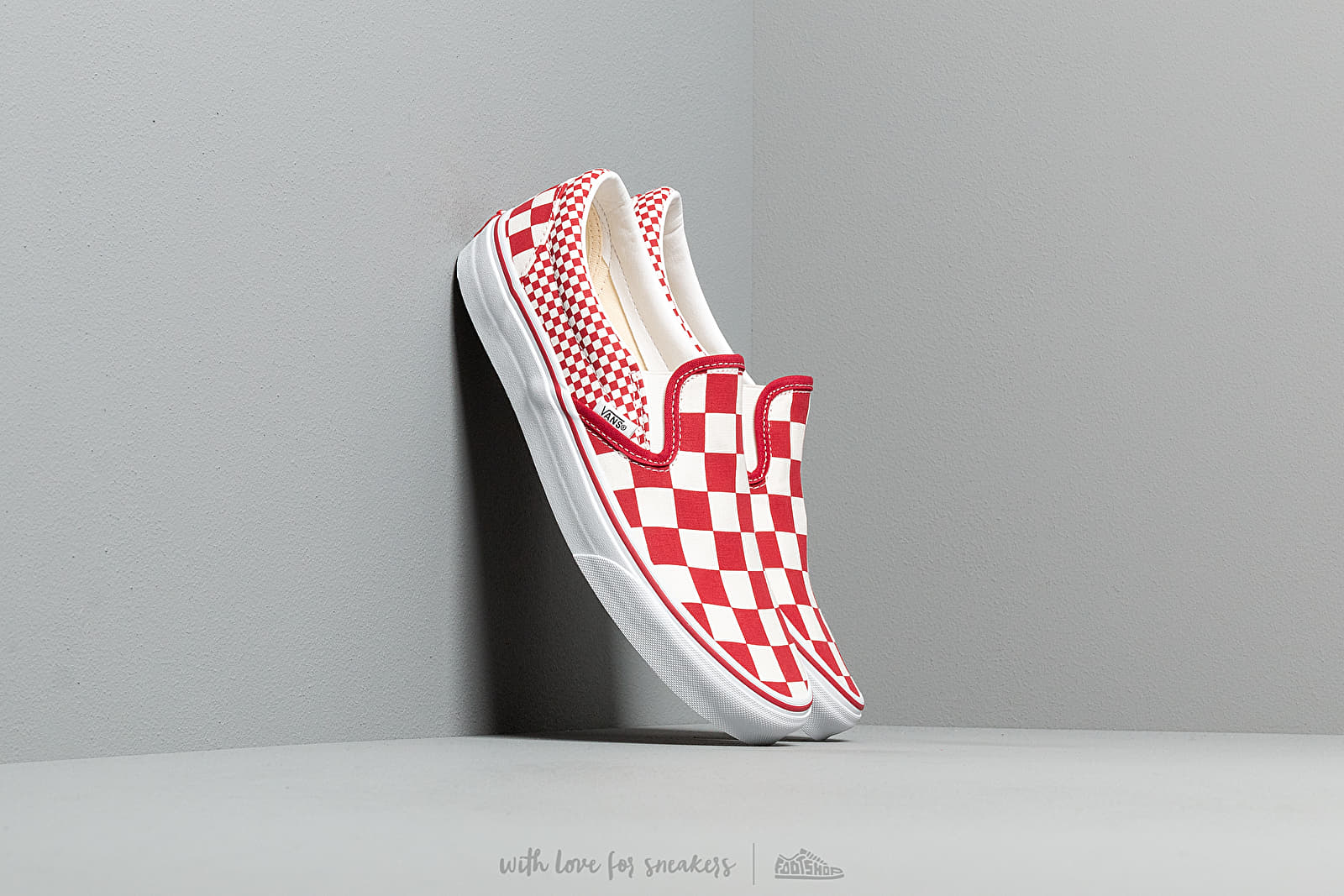 Vans Classic Slip-On (Mix Checker) Chili Pepper at a great price 59 € buy at Footshop