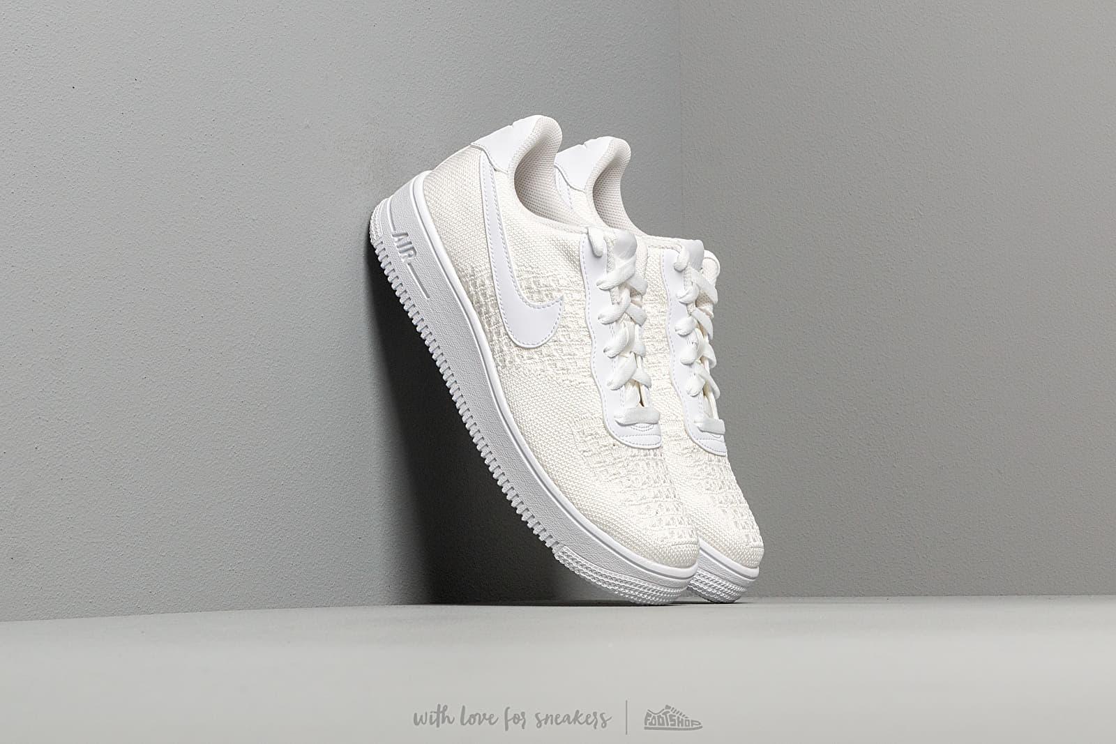 Nike Air Force 1 Flyknit 2.0 (GS) White/ White-White za skvelú cenu 84 € kúpite na Footshop.sk