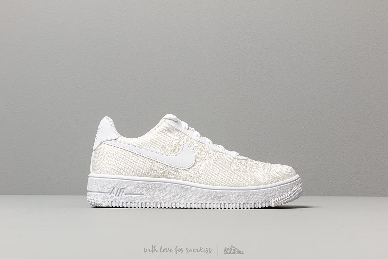 best cheap 4264d 5213c Nike Air Force 1 Flyknit 2.0 (GS) White  White-White at a