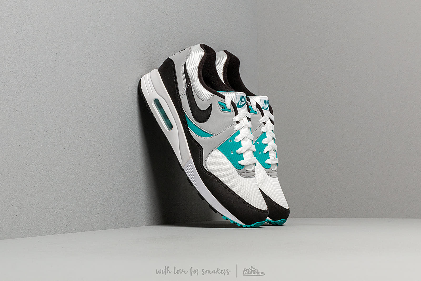 reputable site 8505e b358c Nike Air Max Light White  Black-Wolf Grey-Spirit Teal at a great