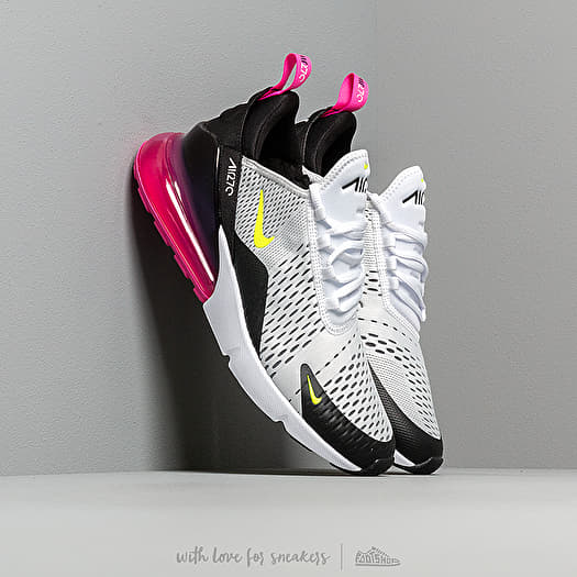 Nike Air Max 270 White Volt Black Laser Fuchsia | Footshop