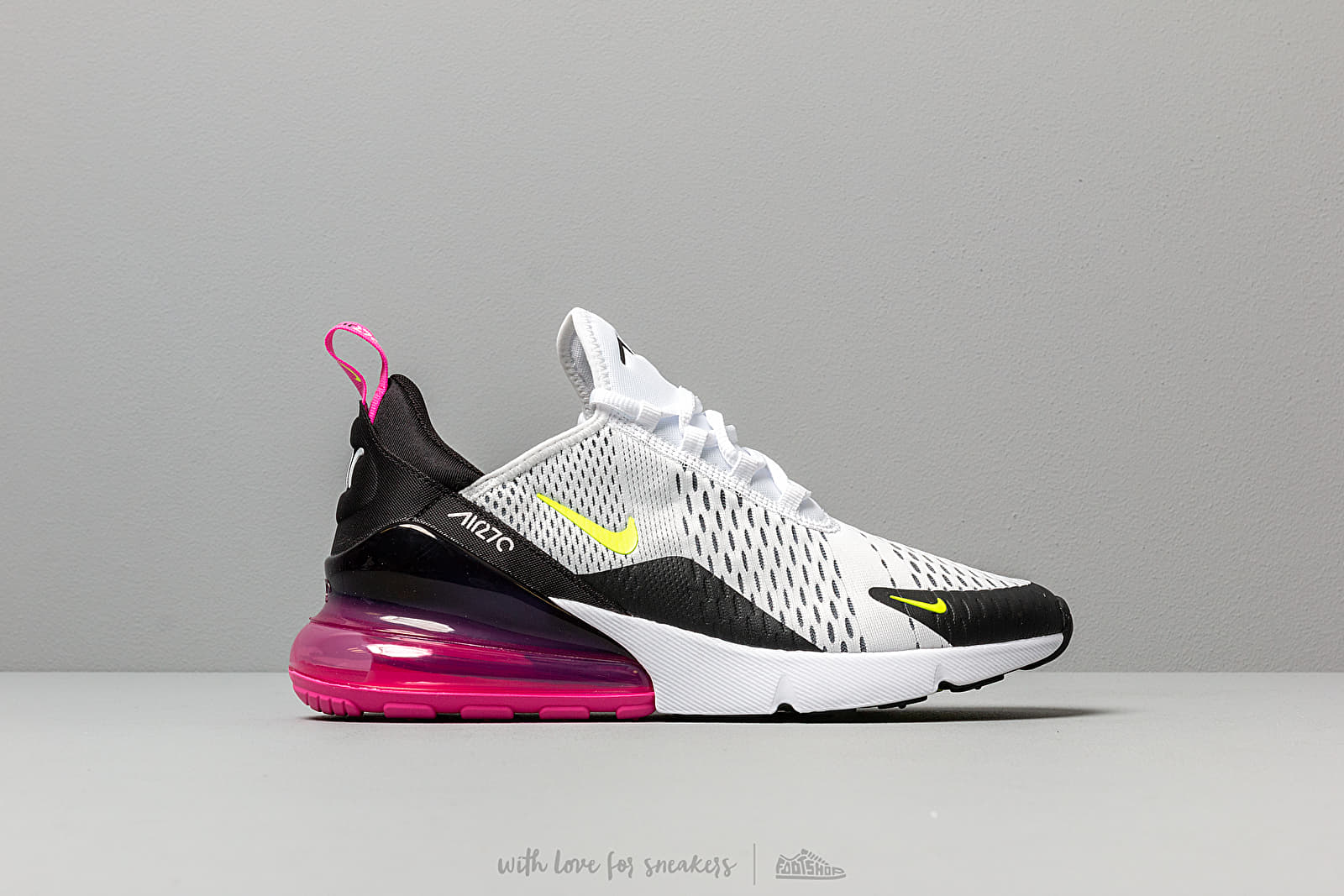newest collection b3b53 145c5 Nike Air Max 270 White/ Volt-Black-Laser Fuchsia at a great price