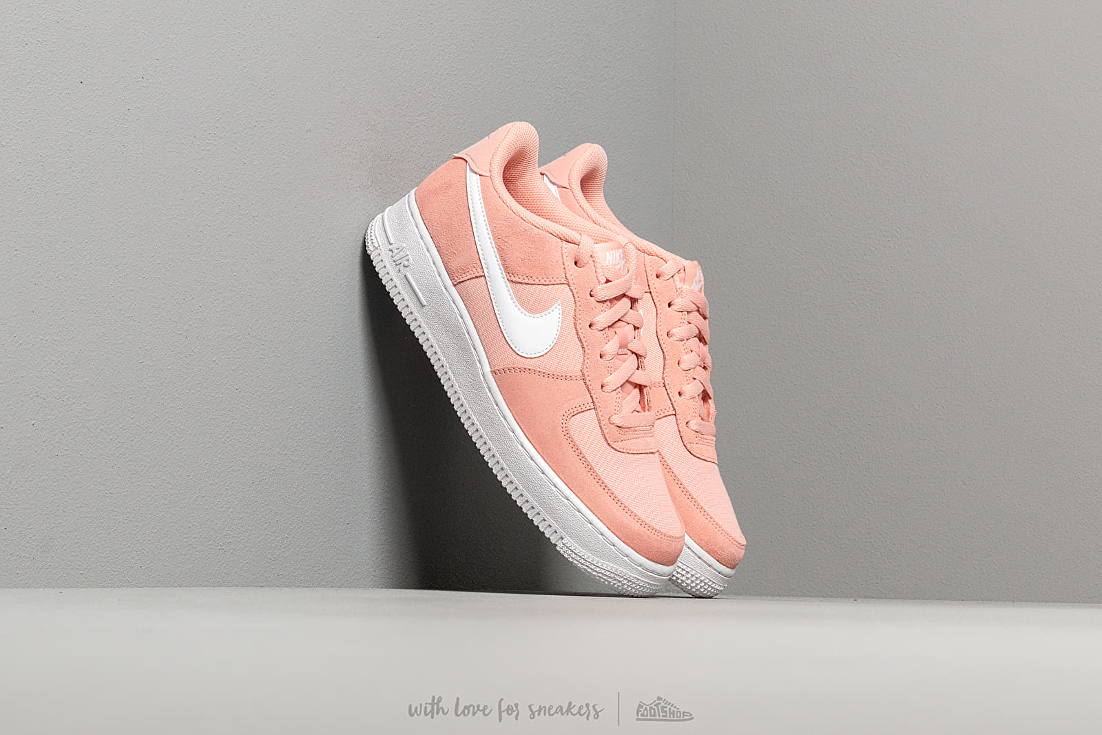 Nike Air Force 1 Pe (GS) Coral Stardust/ White