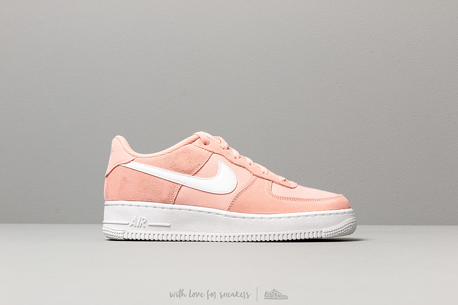 new product 54db9 12bf4 Nike Air Force 1 Pe (GS) Coral Stardust  White at a great price