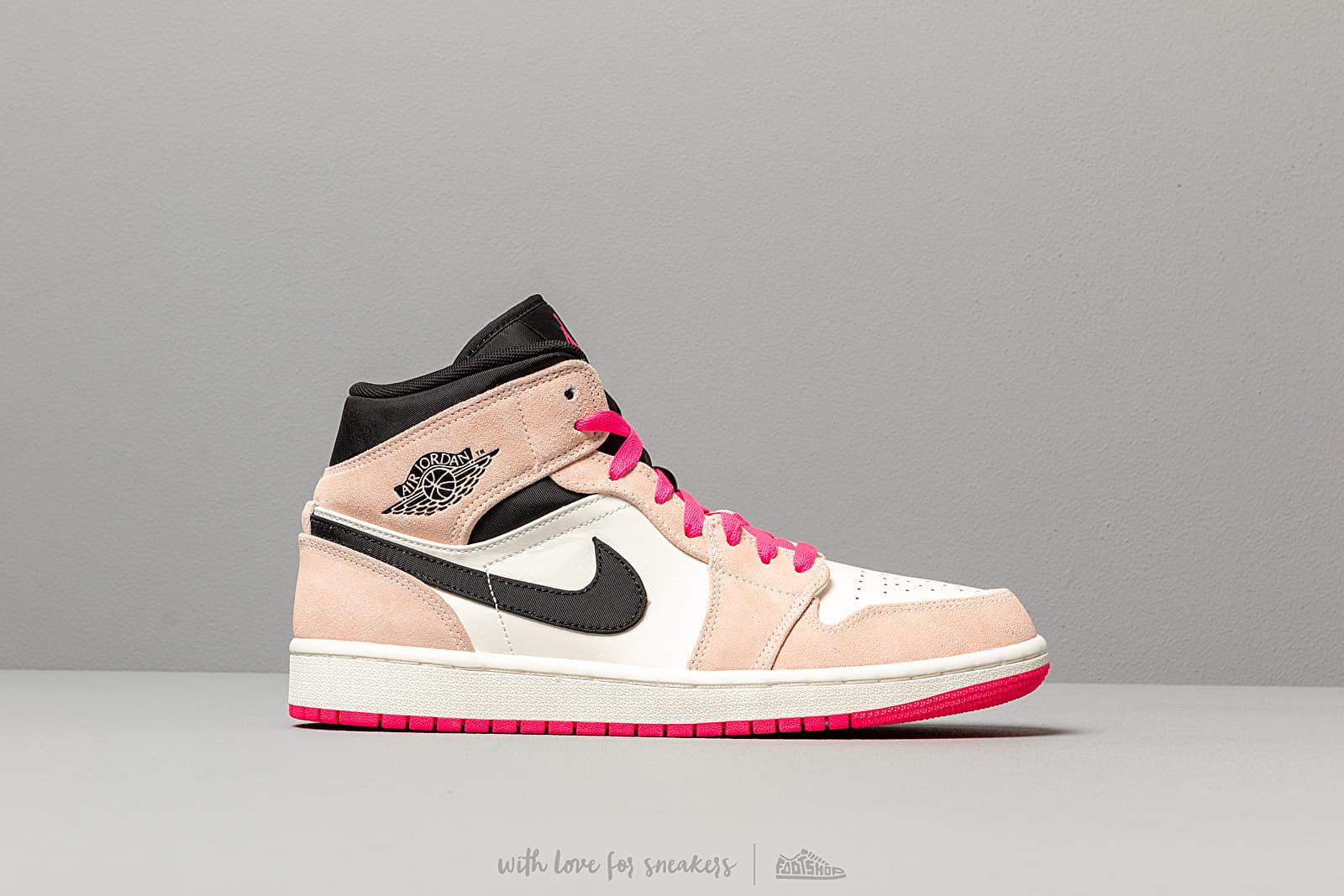 Air Jordan 1 Mid Se Crimson Tint Hyper Pink Black Sail | Footshop