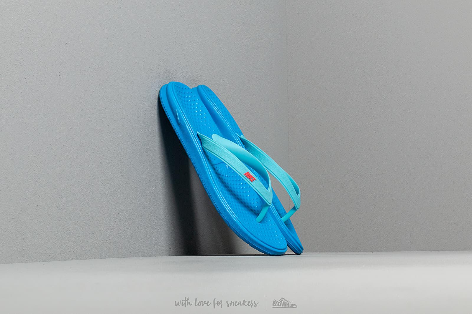 Nike Solay Thong (GS/PS) Photo Blue/ Bright Crimson-Blue Gaze za skvělou cenu 540 Kč koupíte na Footshop.cz