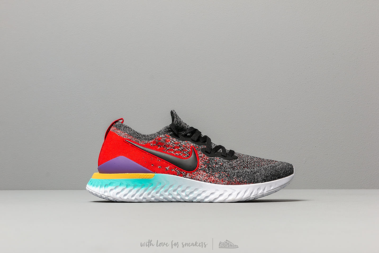 bed836d1e Nike Epic React Flyknit 2 Black/ Black-Hyper Jade-University Red at a