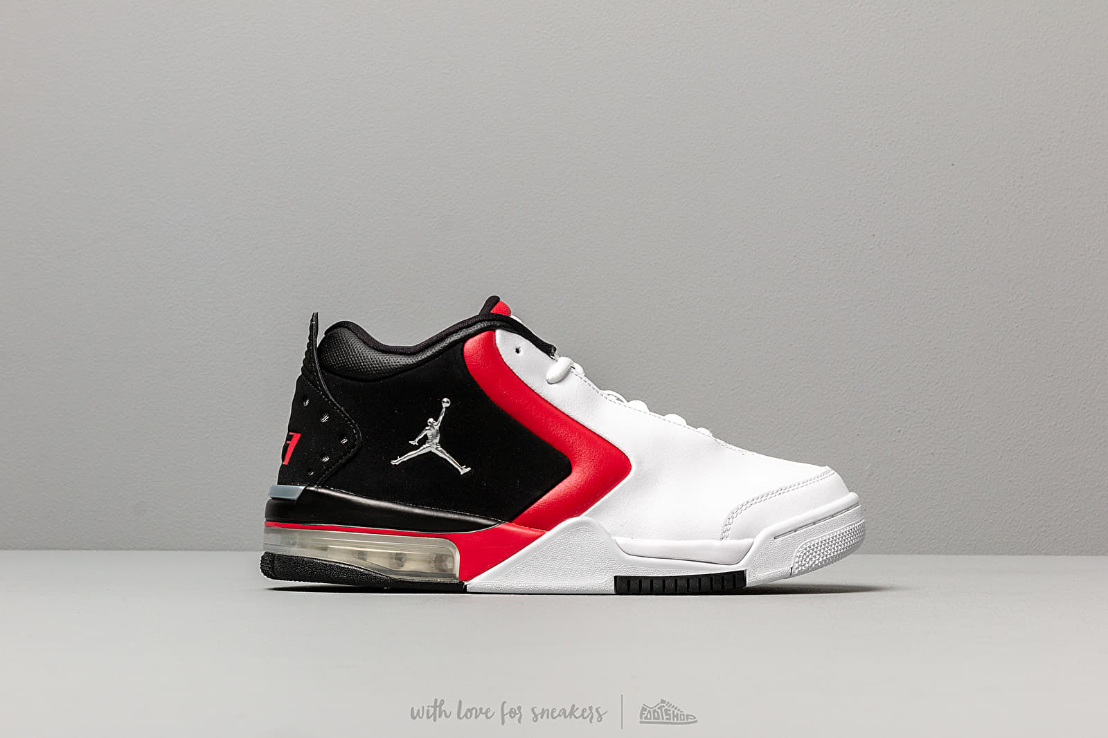 Jordan Big Fund White Metallic Silver Black Gym Red   Footshop