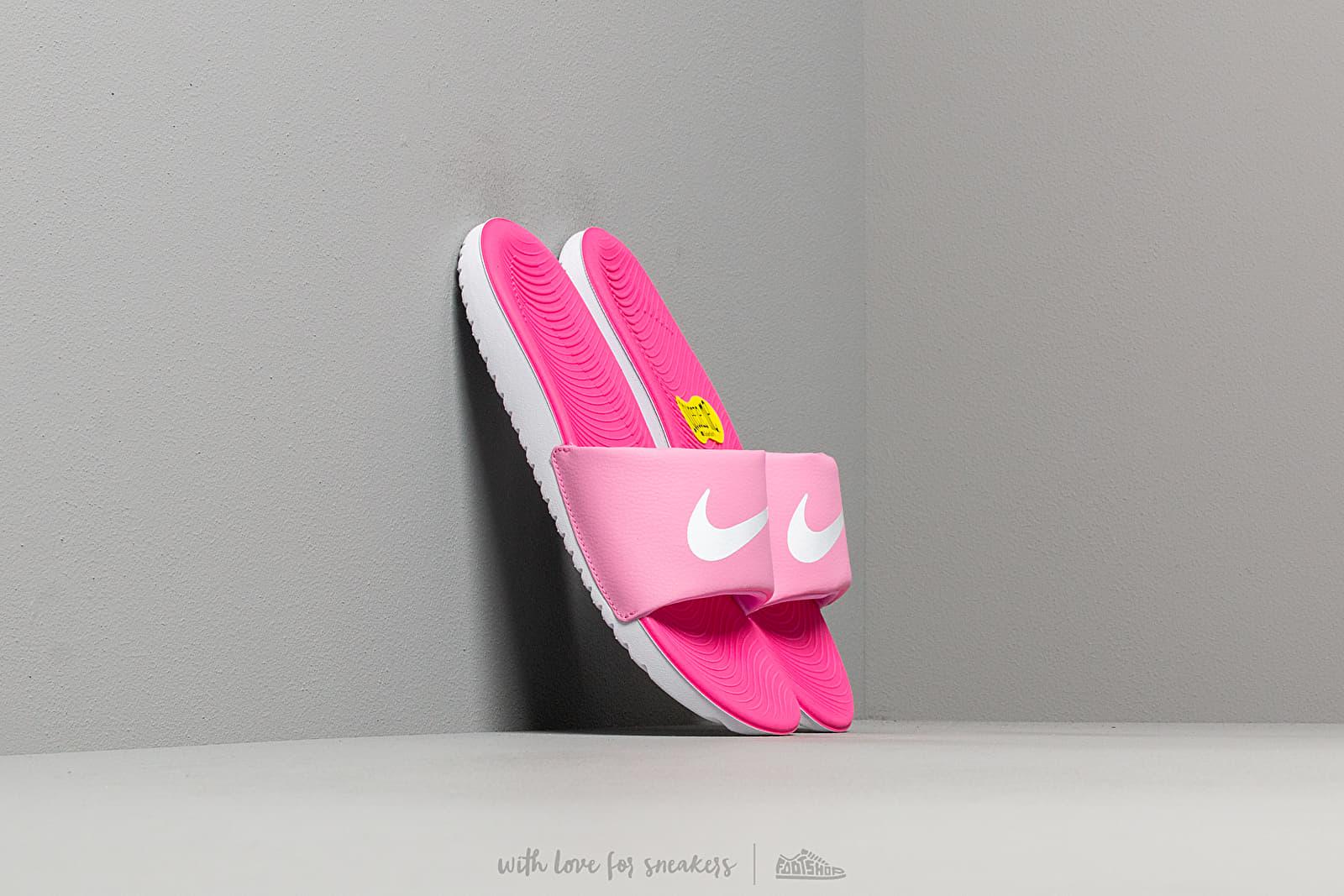 Nike Kawa Slide (GS/PS) Psychic Pink/ White-Laser Fuchsia za skvělou cenu 690 Kč koupíte na Footshop.cz