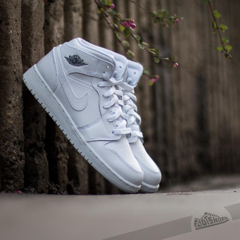 meet 6ecf0 1da09 Air Jordan 1 MID White Cool Grey-White