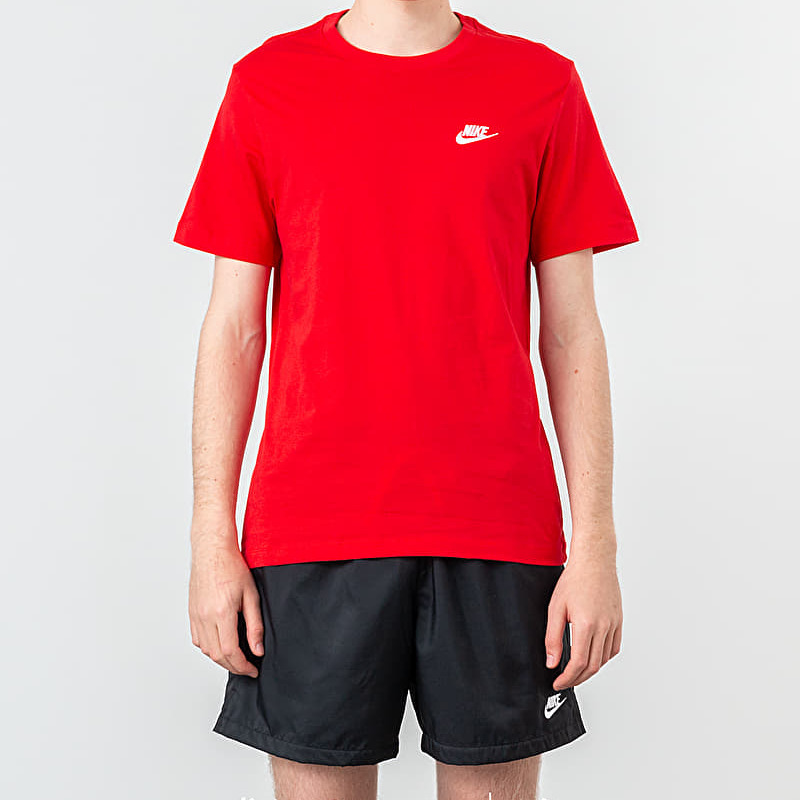Nike Sportswear Club Tee University Red/ White S