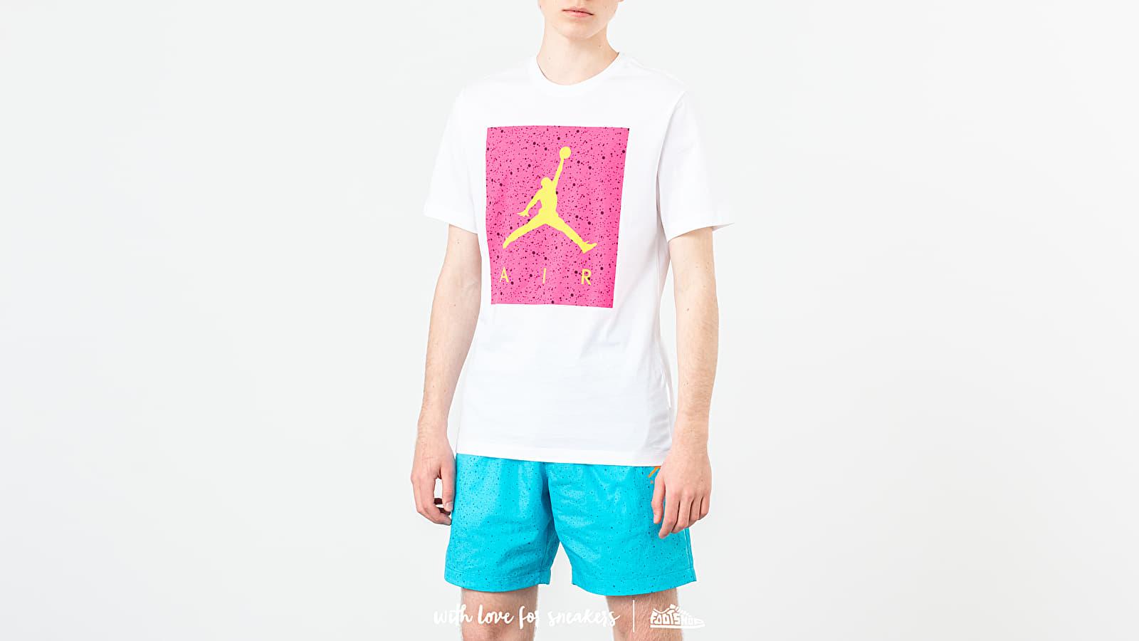 Trička Jordan Poolside Tee White/ Hyper Pink/ Cyber