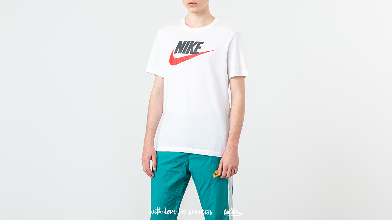 Μπλούζες Nike Sportswear Futura Icon Tee White/ Black/ University Red