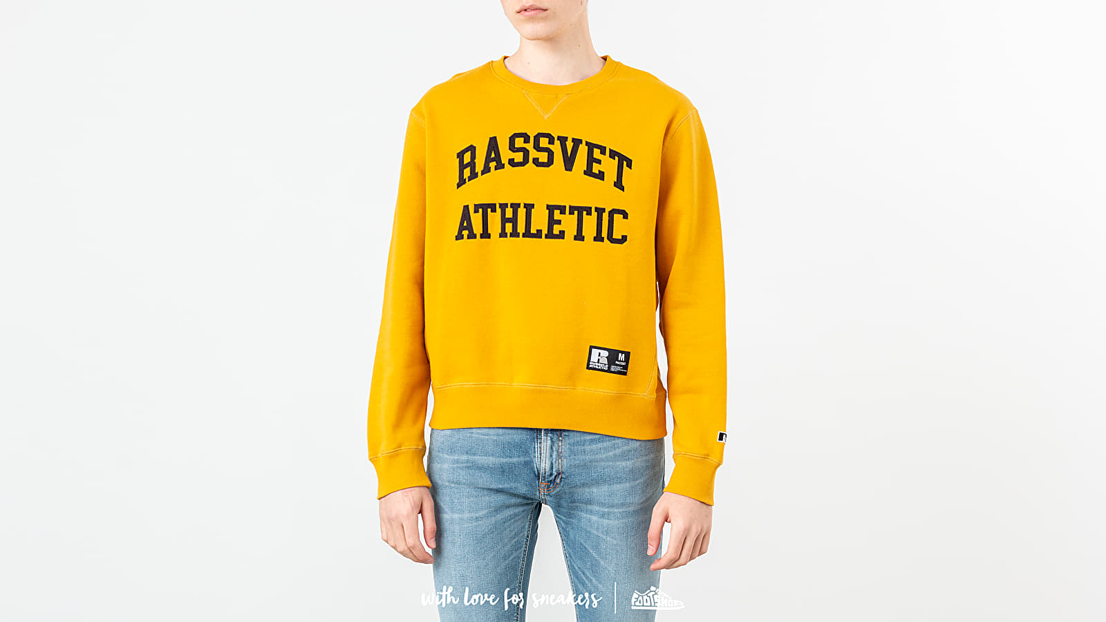 Felpe e maglioni PACCBET x Russell Athletic Printed Crewneck Yellow