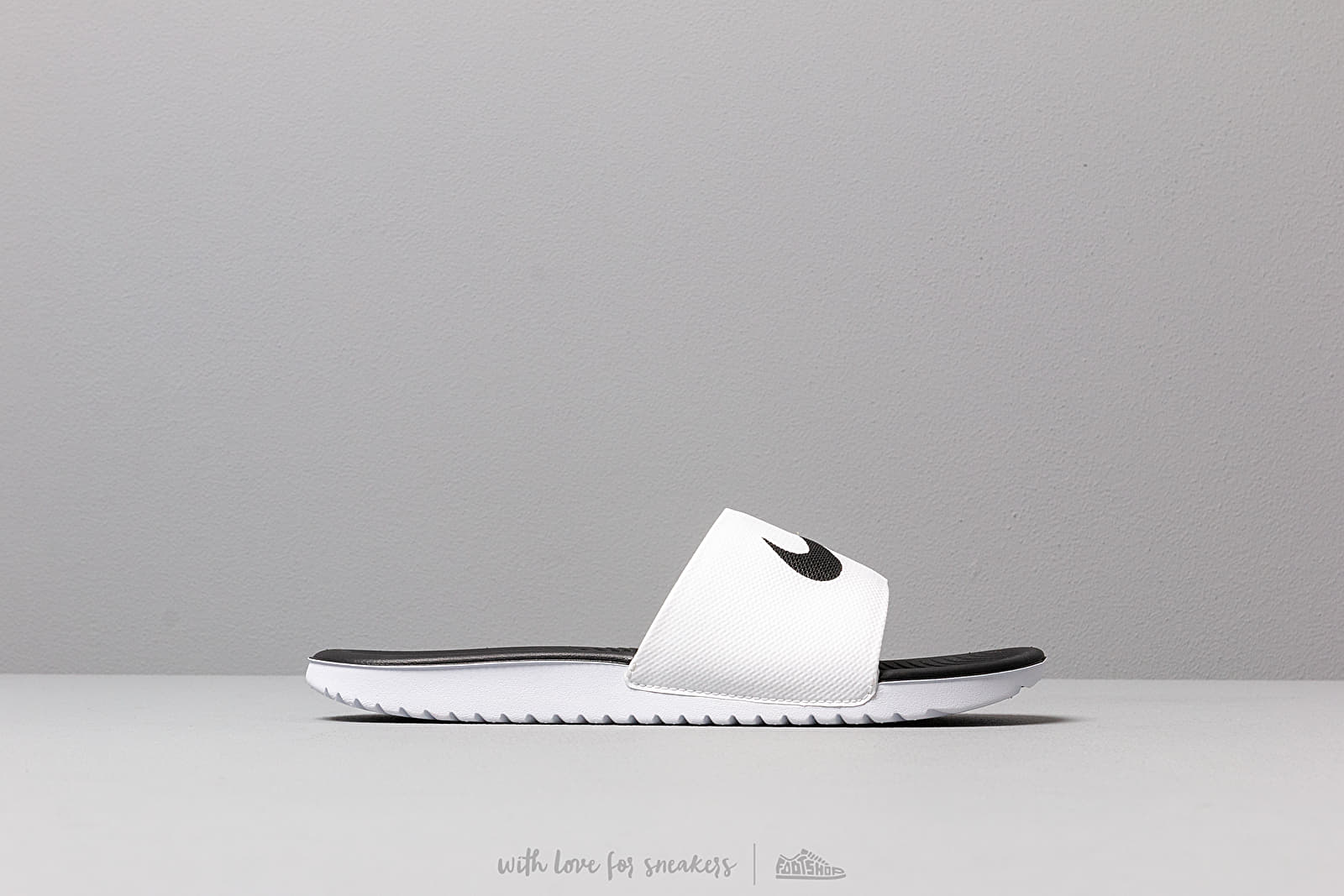 lowest price 41939 98180 Nike Kawa Slide (GS PS) White  Black at a great price 26