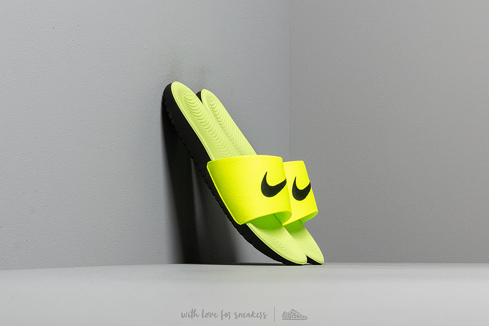 Nike Kawa Slide (Gs/Ps) Volt/ Black