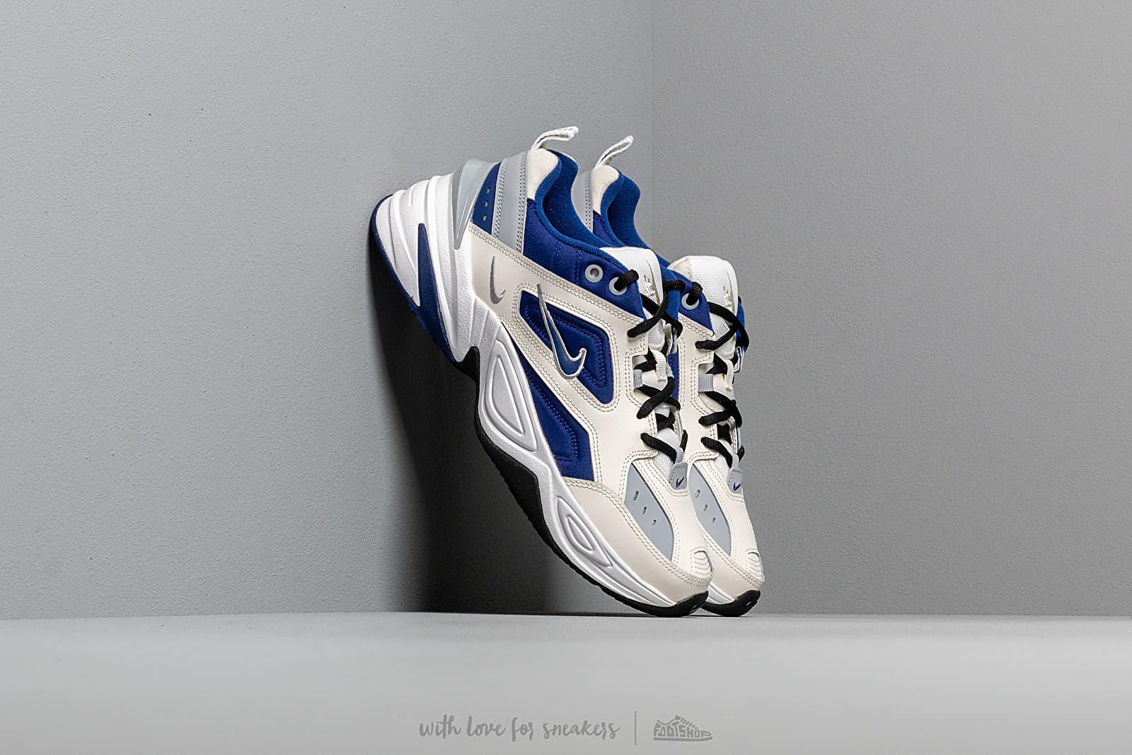 Nike M2K Tekno Sail Deep Royal Blue Wolf Grey White | Footshop