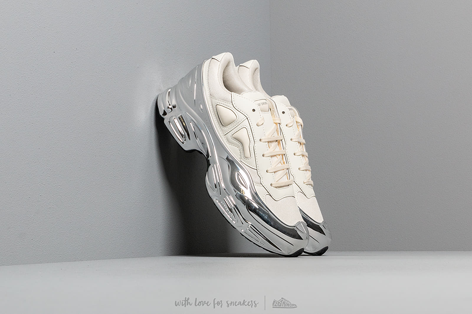 adidas x Raf Simons Ozweego Core White/ Silver Metallic/ Silver Metallic at a great price 348 € buy at Footshop