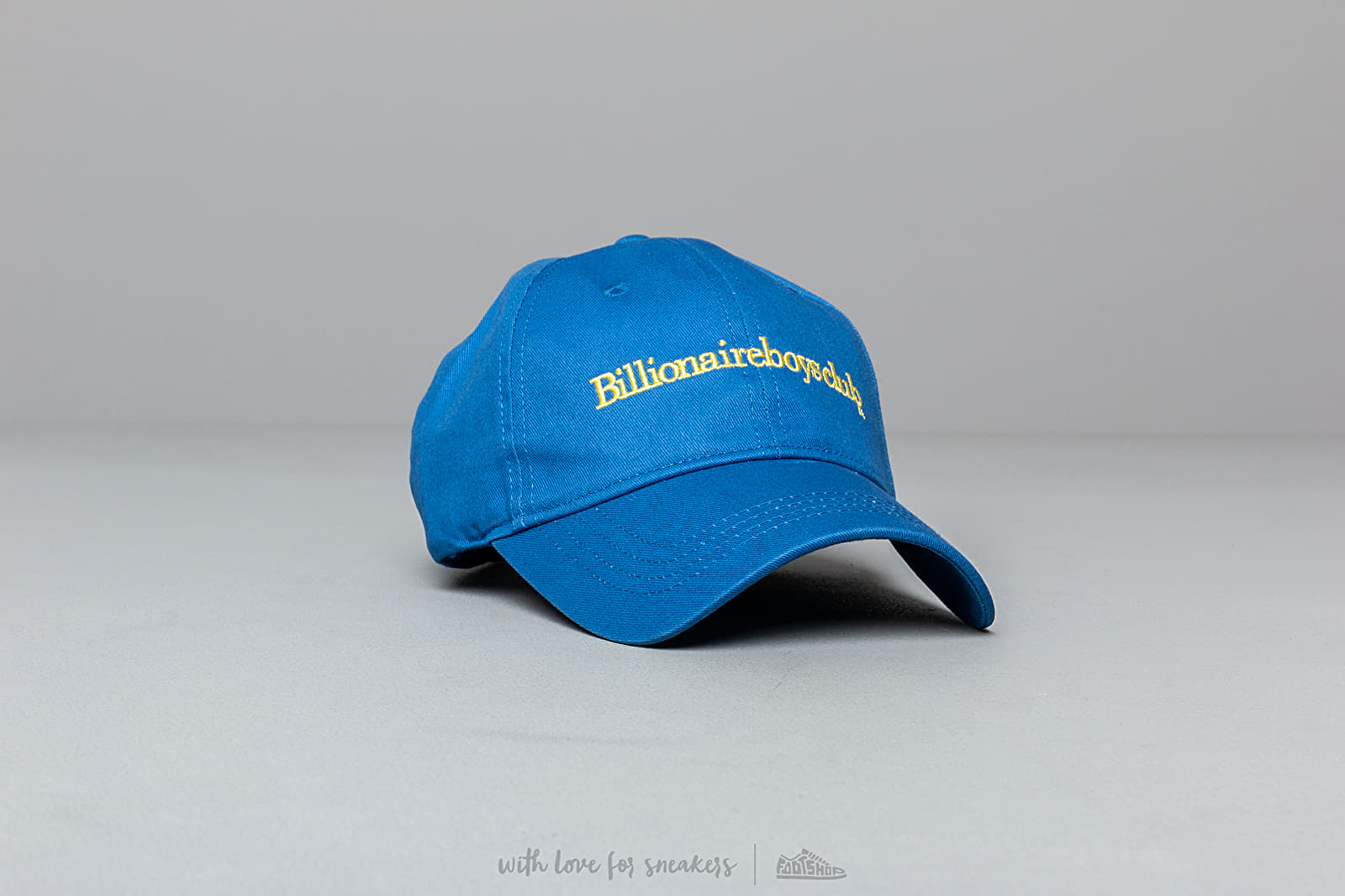 Billionaire Boys Club Embroidered Curved Visor Cap Blue