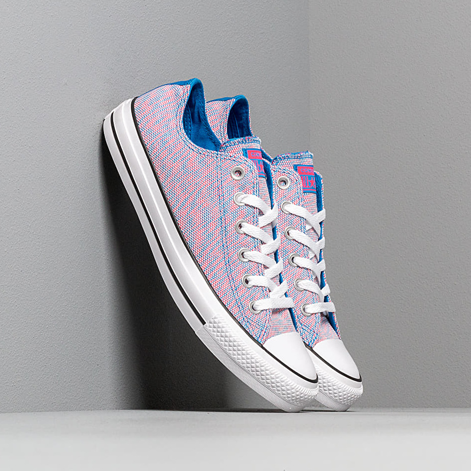 Converse Chuck Taylor All Star OX Totally Blue/ Racer Pink/ White